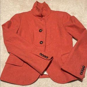 J. Crew rust tweed jacket